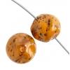 Glass 10mm Nugget Opaque Amber Matrix